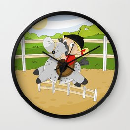 Olympic Sports: Equestrian Wall Clock
