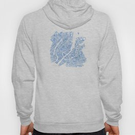 Copenhagen Denmark watercolor city map Hoody