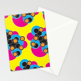Retro Bubble Hearts Stationery Cards