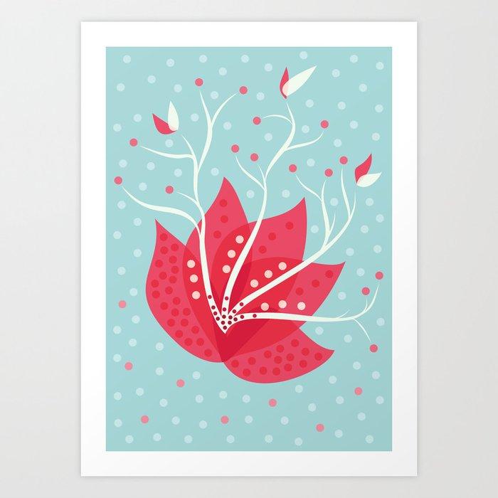 Exotic Winter Flower Art Print
