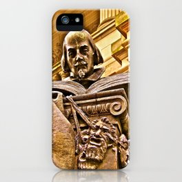 Shakespeare Hits the Books iPhone Case