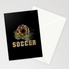 Golden Soccer Ball Stationery Cards
