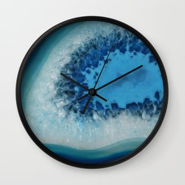 Agate Crystal Blue Wall Clock