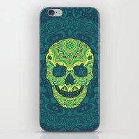 sugar skull iPhone & iPod Skins featuring Sugar skull by Julia Badeeva