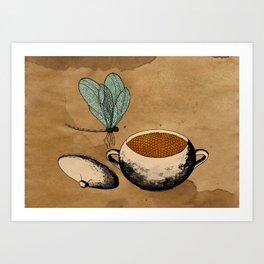 - dragonflies in honey - Art Print