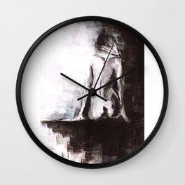 Woman nude Wall Clock