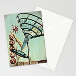 Oscar's Martini Neon Sign Old Vegas Stationery Cards