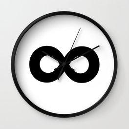 Infinity Symbol (Black & White) Wall Clock