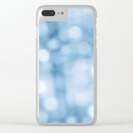 unfocused blue Clear iPhone Case