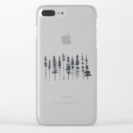 Watercolor Tree Silhouette Clear iPhone Case