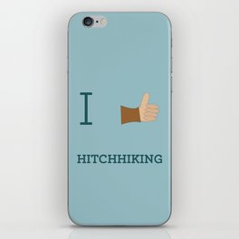I heart Hitchhiking iPhone Skin
