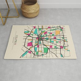 Colorful City Maps: Columbus, Ohio Rug