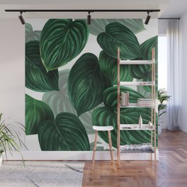 tropical green pattern Wall Mural