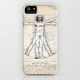 Vitruvian Man Human Anatomy Da Vinci Art Print iPhone Case