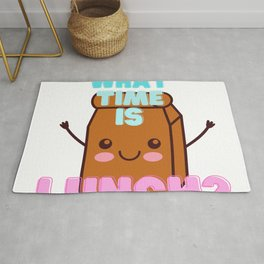 What time is lunch? Rug