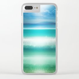 """Blue sky over teal sea South"" Clear iPhone Case"