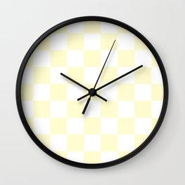 Checker (Cream/White) Wall Clock