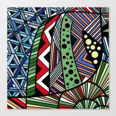 IT'S RAINING COLORS! (abstract geometric) Canvas Print