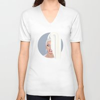rupaul V-neck T-shirts featuring Humble Gal by Dezignjk (Justin Kohout)