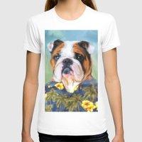 english bulldog T-shirts featuring Chic English Bulldog by Jai Johnson