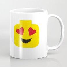 Heart Eyes - Emoji Minifigure Painting Mug