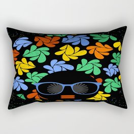 Afro Diva : Colorful Rectangular Pillow