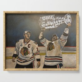 Blackhawks Cup Champions Serving Tray