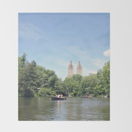Central Park Lake Throw Blanket