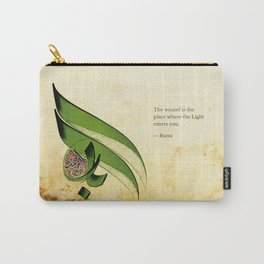 Arabic Calligraphy - Rumi - Light Carry-All Pouch