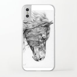 FRIESIAN HORSE Clear iPhone Case