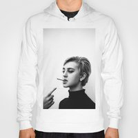 cigarettes Hoodies featuring Cigarettes and the 60s by Corbishley