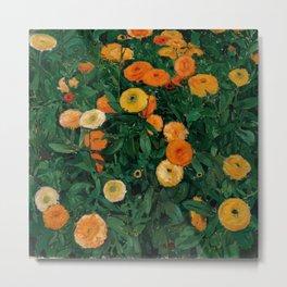 "Koloman (Kolo) Moser ""Marigolds"" Metal Print"
