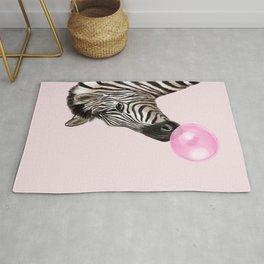 Zebra  Playing Bubble Gum Rug