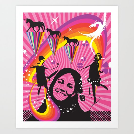 Beat Club Art Print