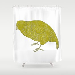 Kakapo Says Hello! Shower Curtain