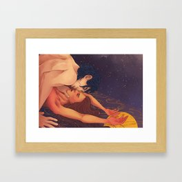Gold cage, hostage to my feelings Framed Art Print