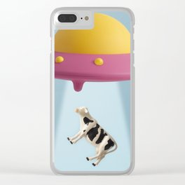 Abducted Cow Clear iPhone Case
