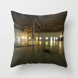 Factory Floor Throw Pillow