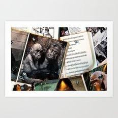 Melody for a Monkey - BERLIN - Germany  Art Print