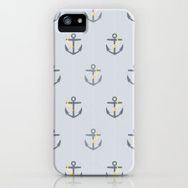 Stormy Nautical Pattern 1 iPhone Case