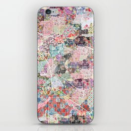Tucson map flowers iPhone Skin