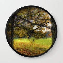 Autumn in the Park Pastel Wall Clock