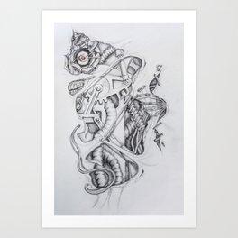 Biomechanical bits Art Print