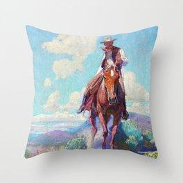 The Trail Foreman - William Herbert Dunton Throw Pillow