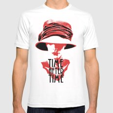 Time After Time Rouge Mens Fitted Tee MEDIUM White