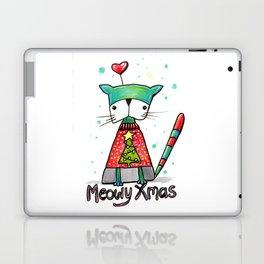 Meowy Xmas Laptop & iPad Skin