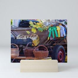 Straw baskets Mini Art Print