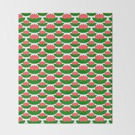 Papercut Lotus Pattern Throw Blanket