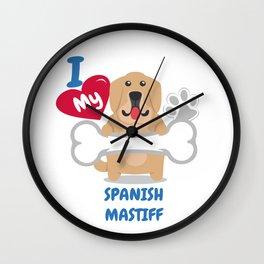 SPANISH MASTIFF Cute Dog Gift Idea Funny Dogs Wall Clock