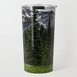 Mt Rainier Reflection Travel Mug